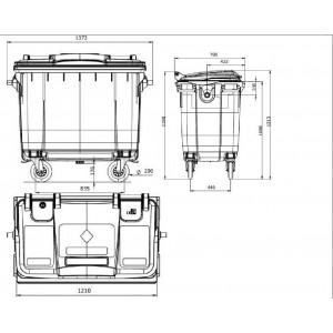 Мусорный контейнер на 360л