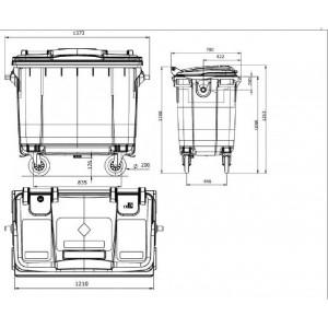 Мусорный контейнер на 660о